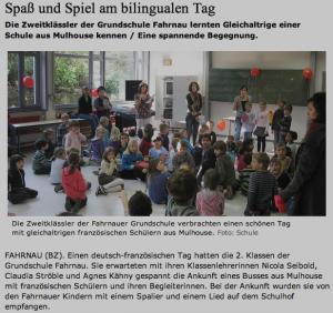 Spass und spiel am bilingualen Tag