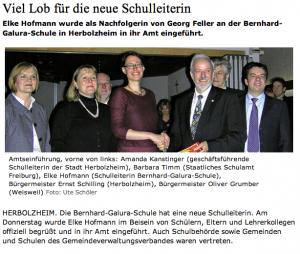 Elke Hofmann neue Schulleiterin